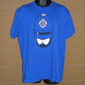 SHIRT.WOOT Tee, XL, Robocopper, SS, Crewneck BLUE